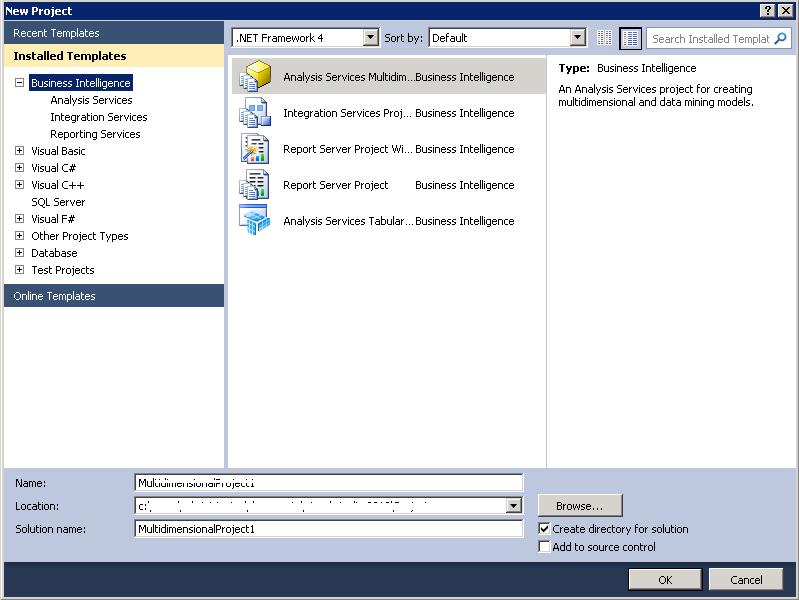 BIDS No More Exist in SQL Server 2012.  (2/4)