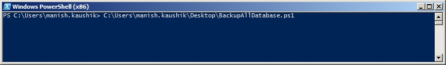 Powershell - Powershell Script to backup all user DBs in SQL Server (2/4)
