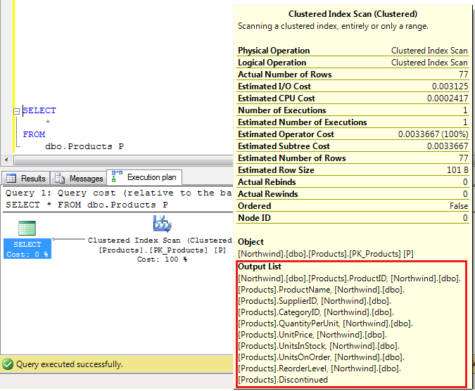 SELECT * Vs SELECT Column Name in SQL Server Query (1/2)