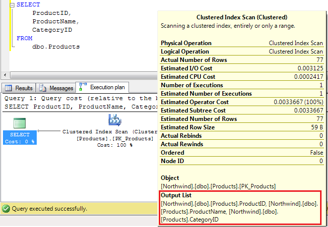 SELECT * Vs SELECT Column Name in SQL Server Query (2/2)